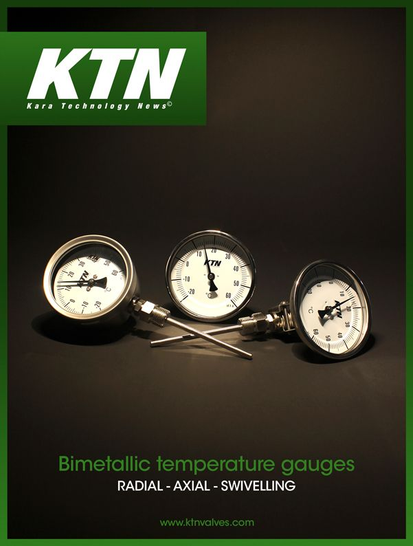 Axial bimetalic thermometer KTN 331A